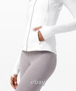 Lululemon Hooded Define Jacket Nulu Fabric White Slim Fit Size 10 12 T.n.-o.