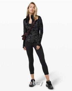 Lululemon Hooded Définir Veste Velours Écrasé En Noir Taille 10 Nouveau Avec Des Étiquettes