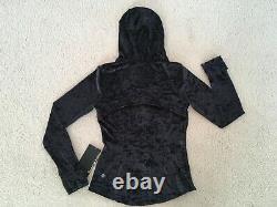 Lululemon Hooded Définir Veste Velours Écrasé En Noir Taille 8 Nouveau Avec Des Étiquettes