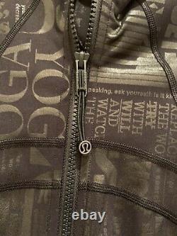 Lululemon Manifesto Spark Define Jacket Black Foil Ltd Edition Womens Sz 8 T.n.-o.