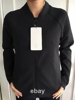 Lululemon Size 4 Embrace The Space Jacket Black Sweat Relaxed Définir Thermo Nwt