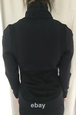 Lululemon Size 8 Hot Mesh Jacket Black Zip Up Stretch Mesh Définir Shape Run T.n.-o.
