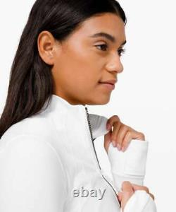 Lululemon Taille 12 Définir Veste Cropped White Gold Nwt Special Edition Free Ship