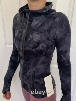 Lululemon Taille 2 Définir Veste À Capuchon Nulu Dye Gray Ddpg Zipup Classic Forme