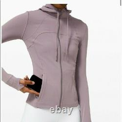Lululemon Taille 4 Définir Veste À Capuchon Nulu Lavender Grsg Zip Classic Forme