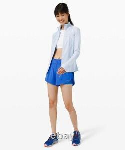 Lululemon Taille 4 Définir Veste Luon Blue Daydream Dayd Zip Up Ls Speed Run