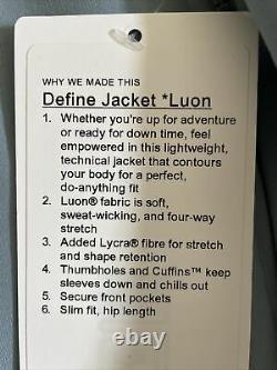 Lululemon Taille 6 Définir Veste Luon Bleu Cast Buca Zip Up Ls Speed Run