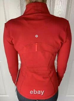 Lululemon Taille 6 Définir Veste Luon Red Dkrd Zip Up Ls Forme Run Speed