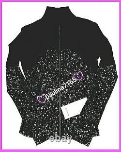Lulullemon Sparkspeckle Shine Black Deep Coal Silver Define Veste, Taille 6 #l293