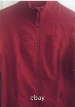 Mint! Lulullemon Sz 12 Nouvelle Édition Veste Define Dark Red