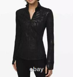New Lululemon Define Jacket 20 Year Anniversary Manifesto Spark Black Size 10