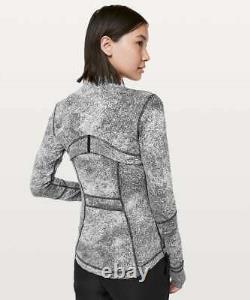 New Lululemon Define Jacket Luon Spray Jacquard White Black Size 12