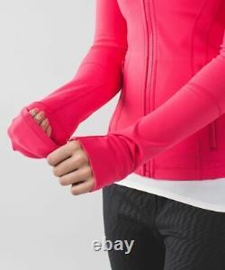 New Lululemon Définir Veste Taille 4 Boom Juice Bmjc Hot Pink Luon Nwt