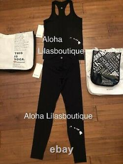 New Lululemon Lulu Définir Veste Aloha Îles Hawaii 2 4 6 8 10 Blanc Noir