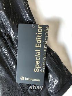 New Lululemon Se Define Jacket Shine Size 6 Acclimatize Black Foil 128 $