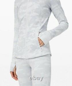 New Lulullemon Defined Jacket 14 Incognito Camo Jacquard Alpine White Livraison Gratuite