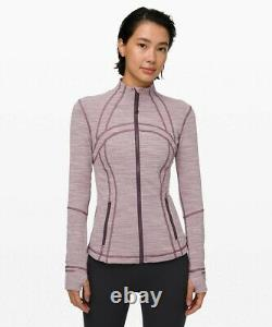 New Lulullemon Defined Jacket 4 6 Wee Space Frosted Mulberry Black Currant