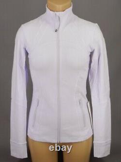 New Lulullemon Defined Jacket 6 8 10 Sheer Lilac Purple Livraison Gratuite