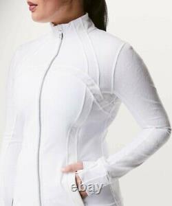 New Lulullemon Defined Veste Flocked 4 Blanc Livraison Gratuite