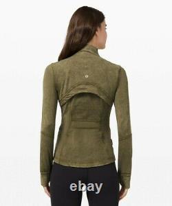 New Lulullemon Définir Veste 12 14 Laver La Glace Moss Green Livraison Gratuite
