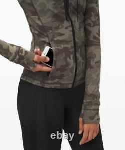 New Nwt Lululemon Define Jacket Nulu Incognito Camo Multi Gator Taille 10