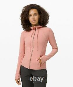 New Women Lululemon Veste À Capuche Définissez Nulu Pink Pastel Taille 12