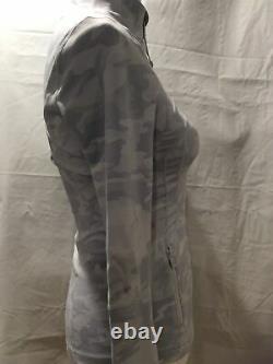 Nouveau Avec Les Étiquettes Lululemon Femme Blanc / Gris Camo Définir Veste Jacquard Taille 4
