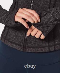 Nouveau Avec Tag Lululemon Définir Veste Panagated Knit Heathered Black Size 4