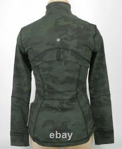 Nouveau Lululemon Définir Jacket 4 6 8 10 12 14 Incognito Camo Gator Vert Le Bateau Libre