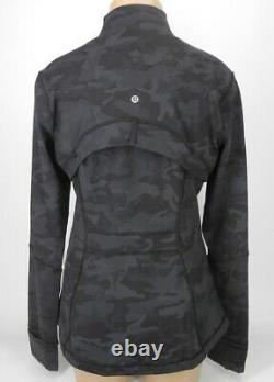 Nouveau Lululemon Définir Jacket 4 6 8 10 12 14 Incognito Camo Multi Gris Libérez Le Bateau