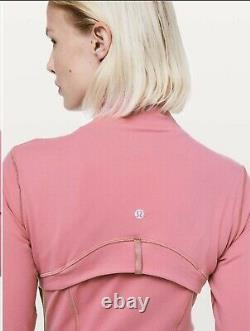 Nouveau Lululemon Définir Luon Zip Veste En Cerise Teinte Rose Taille 12