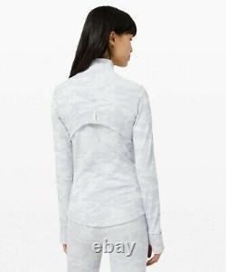 Nouveau Lululemon Définir Veste 6 8 10 12 14 Incognito Camo Jacquard Alpine White