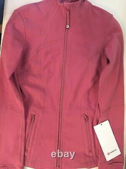 Nouveau Lululemon Définir Veste Luon Taille 4 Cherry Tint Pink Nwt