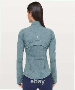Nouveau Lululemon Définir Veste Luxtre Lavé Essence Bleu Taille 10