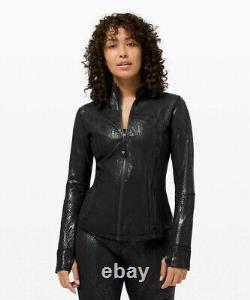 Nouveau Lululemon Définir Veste Shine 6 Acclimater Black Black Foil Free Ship
