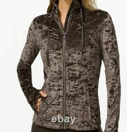 Nouveau Lululemon Hooded Define Jacket Crushed Velvet Sz 12 Noir Nouveau Avec Des Étiquettes T.n.-o.