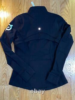 Nouveau Lululemon X Peloton Définir Veste Noir Taille 8 Avec Logo À La Menthe