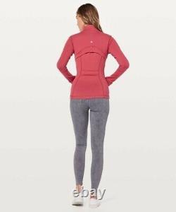 Nouveau! Nwt Lululemon Définir Veste Taille 8 Vintage Rose Full-zip