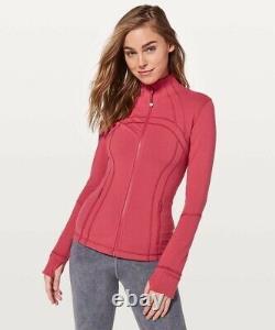 Nouveau! T.n.-o. Lululemon Définir La Taille De La Veste 2 Vintage Rose Full-zip