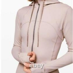 Nouvelles Femmes Lululemon Hooded Définir Veste Nulu Taille 6