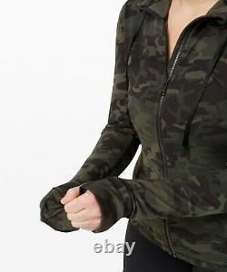 Nouvelles Femmes Lululemon Hooded Définir Veste Nulu Taille 6-8-10-12