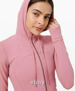 Nouvelles Femmes Lululemon Hooded Définir Veste Size6 Nulu Pink Taupe