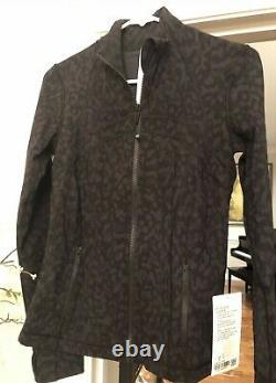 Nwt Lululemon Define Formation Camo Black Coal Jacket Luxtre Taille 6 Htf
