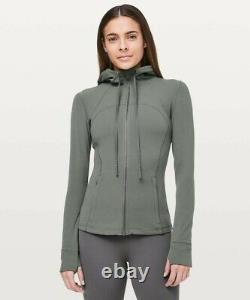 Nwt Lululemon Définir Hooded Jacket Grey Sage Sz 8 Rare New Nulu