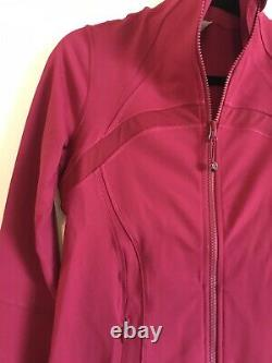 Nwt Lululemon Définir Jacket Shine On Berry Rumble Sz 8 Raspberry Pink Red