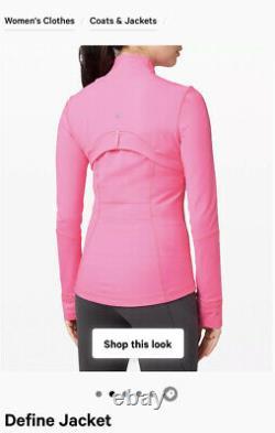Nwt Lululemon Définir Veste Luon Size4 Dark Prism Pink