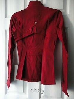 Nwt Lululemon Définir Veste Luxtreme Dark Sport Rouge Lw4awts Dksr Taille 4