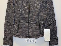 Nwt Lululemon Forme Jacket Gray/black Sz 12 Full Zip, Logo-similar To Define Jkt