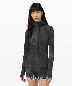 Nwt Lululemon Hooded Define Jacket Nulu Sz 12 Diamond Dye Pitch Graphite Gris