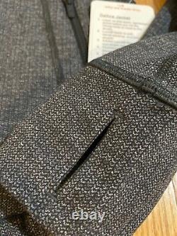 Nwt Lululemon Taille 4 Définir Veste Noir & Blanc Gris Luon Layer Vkbw Knit Black